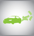 car and money vector image