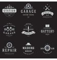 Car Service Logos Templates Set vector image