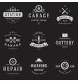 Car Service Logos Templates Set vector image