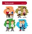 Cartoon business people vector image vector image