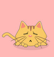 cartoon cat tired emotion pink background i vector image