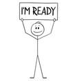 cartoon happy confident man or businessman vector image vector image