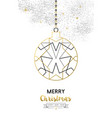 christmas and new year abstract gold line ornament vector image