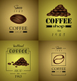 Coffee backgrounds vector image