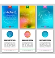 Colorful blurred summer holidays backgrounds vector image