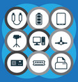 computer icons set with power supply ram vector image vector image