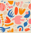 creative doodle art seamless pattern with vector image vector image