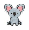 cute scribble koala cartoon vector image vector image