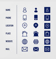 digital business icon set vector image vector image