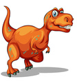 Dinosaur with sharp teeth vector image vector image