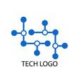 dot connecting tech logo vector image vector image