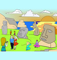 easter island excursions color vector image