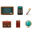educational icons vector image vector image