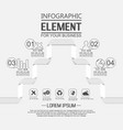element for infographic template geometric vector image vector image