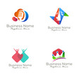 event organizer logo and icon design vector image vector image