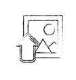 figure frame picture loading element icon vector image