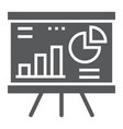 financial analysis glyph icon finance and banking vector image vector image