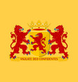 flag of south holland netherlands vector image vector image
