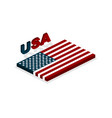 flag usa with shadow in isometric design on blank vector image vector image