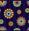 floral spiral pattern vector image