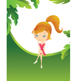 Girl in the tropics vector image vector image