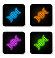 glowing neon dna symbol icon isolated on white vector image