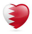 Heart icon of Bahrain vector image vector image