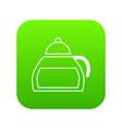 honey tea icon green vector image vector image