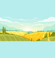 horizontal rural landscape with field vector image vector image