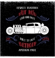 Hot rod vehicle vector image