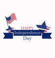 independence day 4th july patriotic greeting vector image vector image