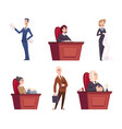 judges characters lawyers team justice vector image