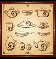 Kitchen icon set vector image