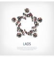lads people sign vector image