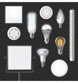 Led Lamps Realistic Transparent Set vector image vector image