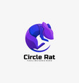 logo circle rat gradient colorful style vector image