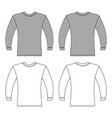 long sleeve t-shirt vector image vector image
