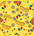 national hot dog day hot dog seamless vector image