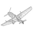old german military aircraft wireframe airplane