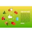 Organic food flat style design quality control vector image vector image