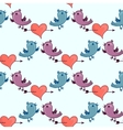Pattern with Two birds and heart broken stele vector image