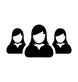 people icon group for female business team vector image