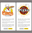 pizzeria of high quality vertical promo banners vector image vector image