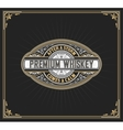 Premium Whiskey Label vector image vector image