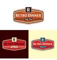 retro dinner logo vector image