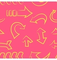 seamless patterndoodle arrow set vector image vector image