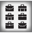 set of 6 portfolios isolated vector image