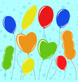 set of flat colored isolated balloons on the vector image vector image