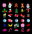 set of merry christmas 30 icons happy new year vector image vector image