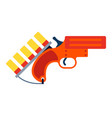 signal flare gun icon flat isolated vector image vector image